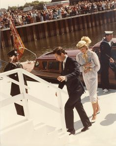 June 28, 1983: Prince Charles & Princess Diana arriving at the Summerside Yacht Club, PEI. (Day 15)