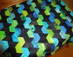 Half hexies by tubakk-quilt, via Flickr