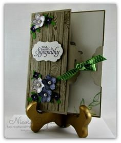 Tag topper card and hardwood stamp