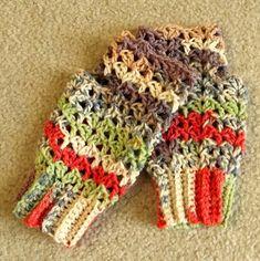 Crochet Fingerless Gloves Texting Gloves by WildHeartYarnings