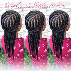 Photo by November Love in Myrtle Beach, South Carolina. Lil Girl Hairstyles, Black Girl Braided Hairstyles, Black Kids Hairstyles, Natural Hairstyles For Kids, African Braids Hairstyles, My Hairstyle, Natural Hair Styles, Curly Hairstyles, Little Girl Braids
