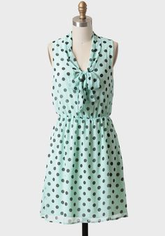 Dressed up or down, mint is my new favorite shade for the season. And polka dots? Always adorable.