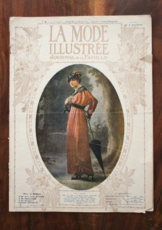 French edwardian fashion magazine with authentic sewing patterns from La mode illustrée of 1914 by LaChineuseFrancaise on Etsy