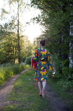 Vihreä talo & Marimekko Marimekko ss16 Marimekko, Ss16, Vera Bradley Backpack, Finland, Cottage, Sewing, Colors, Creative, Bags