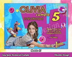 Soy Luna Invitación Cumpleaños Imprimible , Digital , Personalizada , Invitación Soy Luna , Cumple Soy