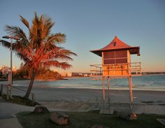 Coolangatta Beach, Qld, Australia Gazebo, Sunrise, Coast, Rainbow, Outdoor Structures, Australia, Spaces, Beach, Beautiful