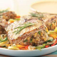 iowa recipes | Stuffed Iowa Chops Recipe | Just A Pinch Recipes