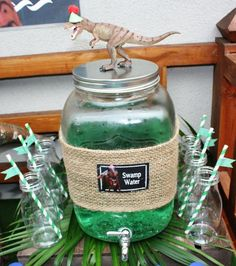 Boy's Dinosaur Birthday Party Drink Ideas