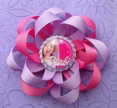 Hairbows  Girls Hair Accessories  Barbie by oliviasgirlyboutique, $7.00