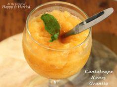 Cantaloupe Honey Granita