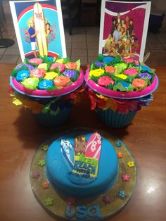 Teen Beach Movie Cake 7th Birthday Party Ideas, 8th Birthday, Birthday Cakes, Teen Beach Party, Movie Cakes, Movie Party, Luau Party, Party Themes, Cake Decorating