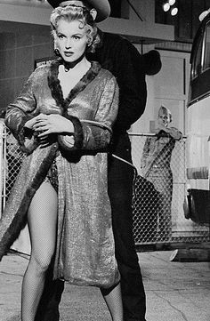 """Marilyn and Don Murray on the set of """"Bus Stop"""". Photo by Milton Greene, 1956."""