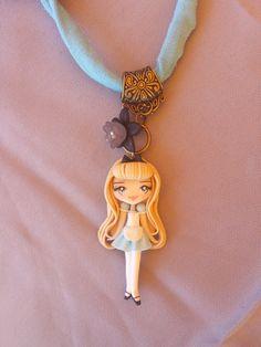 Halskette Alice im Wunderland Fimo Polymer Clay von Artmary2