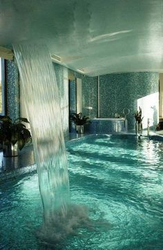 Indoor pool...are you serious! Looks like a Dubai idea of a small bathroom. Hee Hee