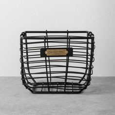 Extra Large Round Wire Decorative Storage Bin With Copper Handles - Threshold™ : Target Wire Basket Storage, Wire Storage, Metal Baskets, Hidden Storage, Pantry Storage, Storage Containers, Black Wire Basket, Copper Handles, Chip And Joanna Gaines