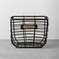Extra Large Round Wire Decorative Storage Bin With Copper Handles - Threshold™ : Target Wire Basket Storage, Wire Storage, Wire Baskets, Hidden Storage, Magnolia Home Decor, Magnolia Homes, Magnolia Farms, Magnolia Market, Black Wire Basket