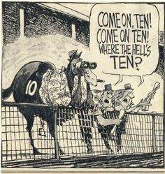 race horse cartoons | Horse Race Software and Handicapping Books
