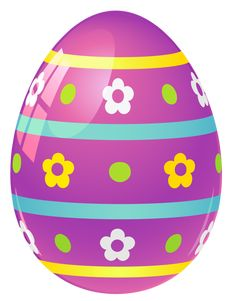 images of easter  png | Purple Easter Egg with Flowers PNG Picture