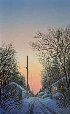 Wilf Perreault - December Silence - loved these at Art Now! Saskatoon 2016