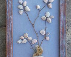 Pebble Art Rock Art Pebble Art Flowers Rock Art von CrawfordBunch
