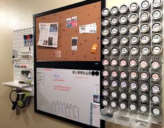Wall Control Metal Pegboard accepts magnets! An all too often overlooked feature of Wall Control pegboard is that you can use your magnetic accessories with them to maximize wall-storage versatility. In this great customer submission, Amanda has utilized magnetic spice jars to efficiently store spices so they are easy-to-see and easy-to-use. Thanks for sending this great pic Amanda!