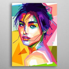 is a Filipino-American actress. Abstract Portrait, Portrait Art, Acrylic Portrait Painting, Oil Painting On Canvas, Canvas Art, Pop Art Posters, Pop Art Portraits, Pop Art Illustration, Art Anime