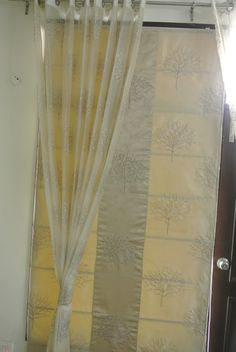 Window blind with curtains
