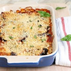 Eggplant Parmesan Casserole for Two