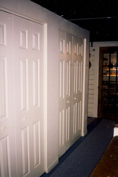 basement closet storage | Tim Arlington Construction