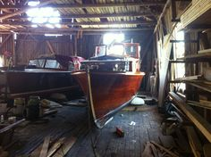 1928 Honduras Mahogany boat Lena getting ready for the summer adventures. #classic #boats