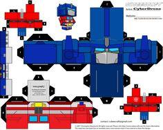 Optimus Prime Cubeecraft