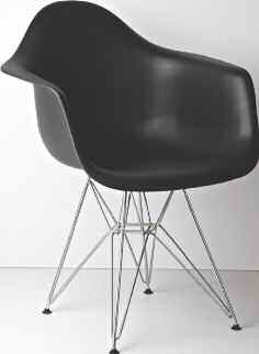 2 Zayna Black Metal Accent Chairs