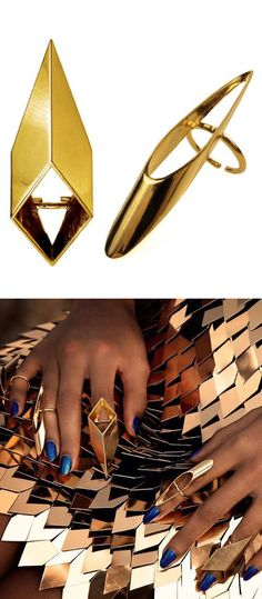 """♥ accessorize ♥ Claw finger rings - from Beyonce's """"Run The World"""" video"""
