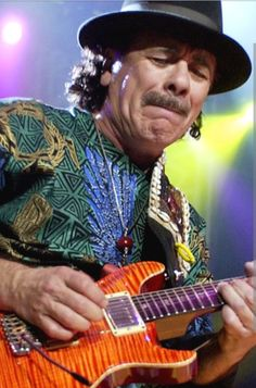 SRV & Carlos Santana. Legends.