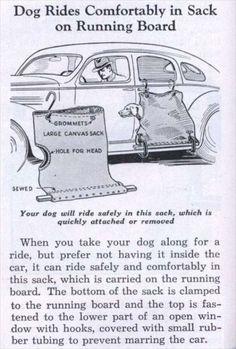 Inventions from the past vintage Invenzioni del passato - Trasportino per cani