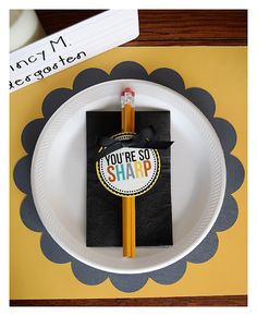 Create a special placemat and name tag for breakfast on the first day of school to make it even more special