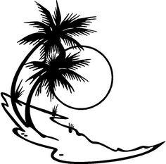 Yadda-Yadda Design Co. Flowers in The Wind - Car Vinyl Decal Sticker - w x h) Boat Decals, Boat Stickers, Tree Decals, Window Stickers, Vinyl Decals, Wind Car, Airbrush, Palm Trees Beach, Cricut Creations
