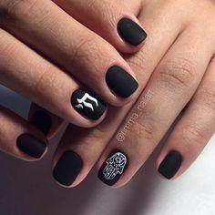 202 Best Black Nails Images On Pinterest In 2018 Manicure Black