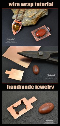 Cabochon and metal plate pendant. – – Cabochon and metal plate pendant. – – … – Cabochon and metal plate pendant. Metal Jewelry Handmade, Metal Jewelry Making, Diy Jewelry Rings, Diy Jewelry Unique, Diy Jewelry To Sell, Diy Jewelry Holder, Jewelry Making Tutorials, Copper Jewelry, Wire Jewelry
