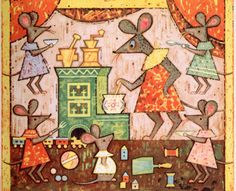 L'udovita Fullu, Varila Mysicka Kasicku, 1966 ( a lucky vintage bookstore find) Russian Folk Songs, Russian Art, Zany Zoo, Children's Book Illustration, Book Illustrations, Creative Inspiration, Childrens Books, Illustrators, Art For Kids