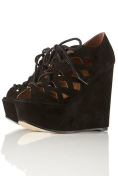 THESE PLEASE! #shoes #black #wedge
