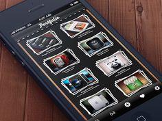 Portfolio App Concept - very nice layout - found on Dribbble.