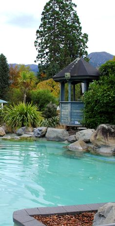 The Hanmer Springs Thermal Pool complex - Kaikoura, NZ