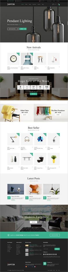 Jupiter is a clean and modern design #PSD template for furniture #shop #eCommerce websites with 4 homepage layouts and 11 organized PSD pages download now➩  https://themeforest.net/item/jupiter-furniture-ecommerce-psd-template/19179253?ref=Datasata