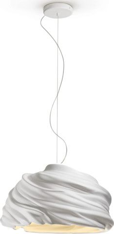 The Cyclone LED Pendant light by Fabbian is the result of research using porcelain products and the tactile aspects of ceramic. The round shape of the lamp shows the movement of the fluid ceramic thro Modern Chandelier, Modern Lighting, Chandeliers, Led Pendant Lights, Pendant Lighting, Contemporary Light Fixtures, I Love Lamp, Deco Furniture, Lamp Design
