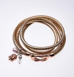 Image of Gold lederarmband