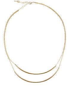 We Adore: The Double-Strand Curved Bar Necklace from Jules Smith at Barneys Warehouse