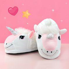 Pantuflas diseño unicornio. Zapatillas de estar en casa en dos tamaños para niño y adulto. #unicornio #rosa #pantuflas #zapatillas #casa
