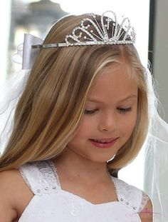 1148c8b7565e5 First Communion Veils with Embroidered Cross | First Holy Communion Veils  with Cross | Holy Communion Cross Tiara -Shop First Communion Dresses