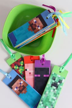 minecraft party, minecraft bookmarks